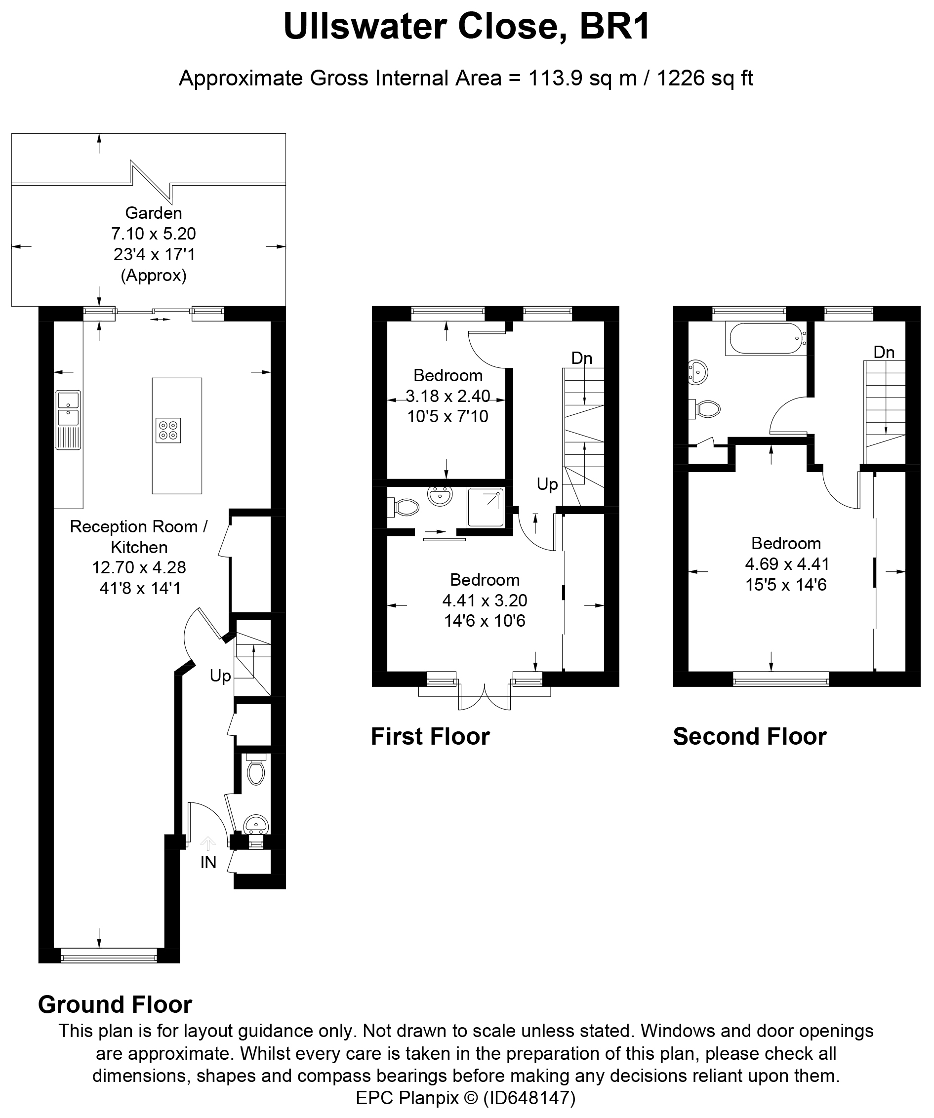 Floorplans For Ullswater Close, Bromley, Kent