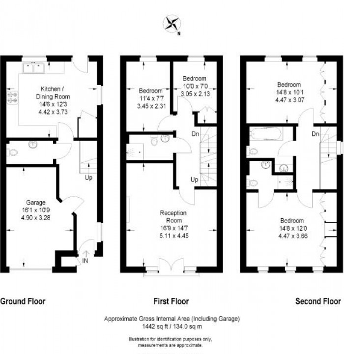 Floorplan for Sparkes Close, Bromley, Kent