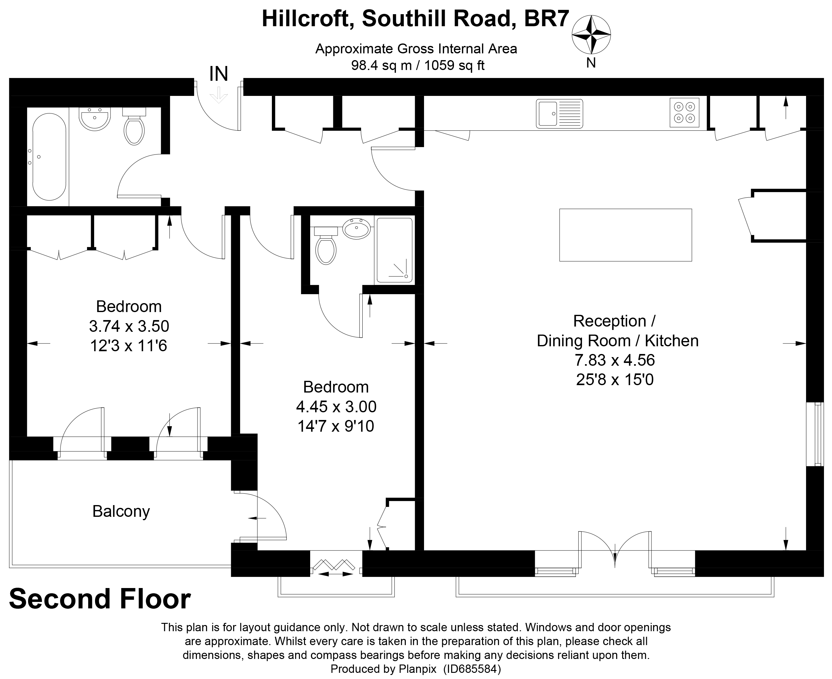 Floorplans For Southill Road, Chislehurst, Kent