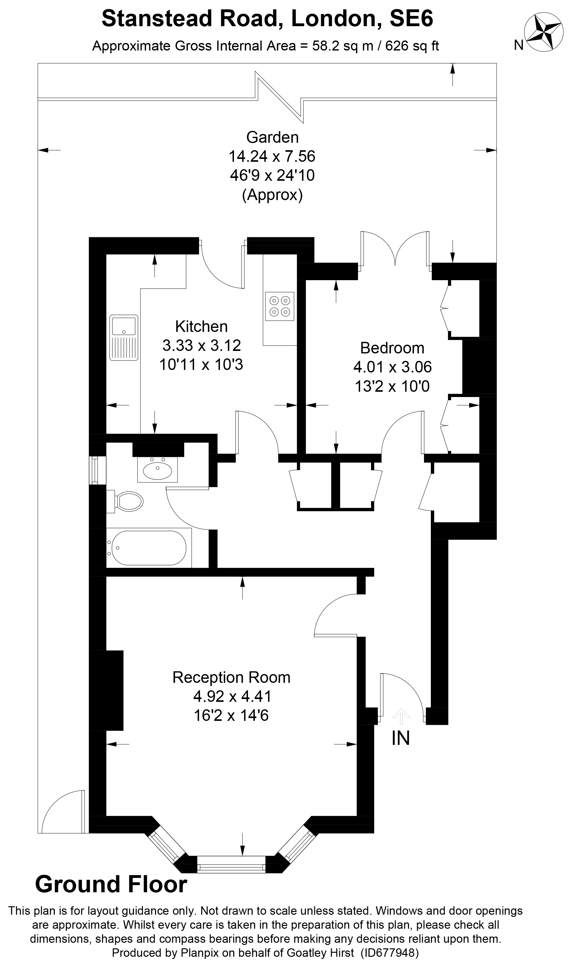 Floorplans For Stanstead Road, London