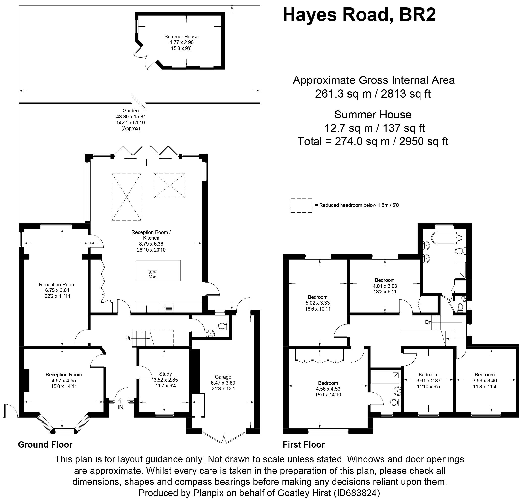 Floorplans For Hayes Road, Bromley, Kent