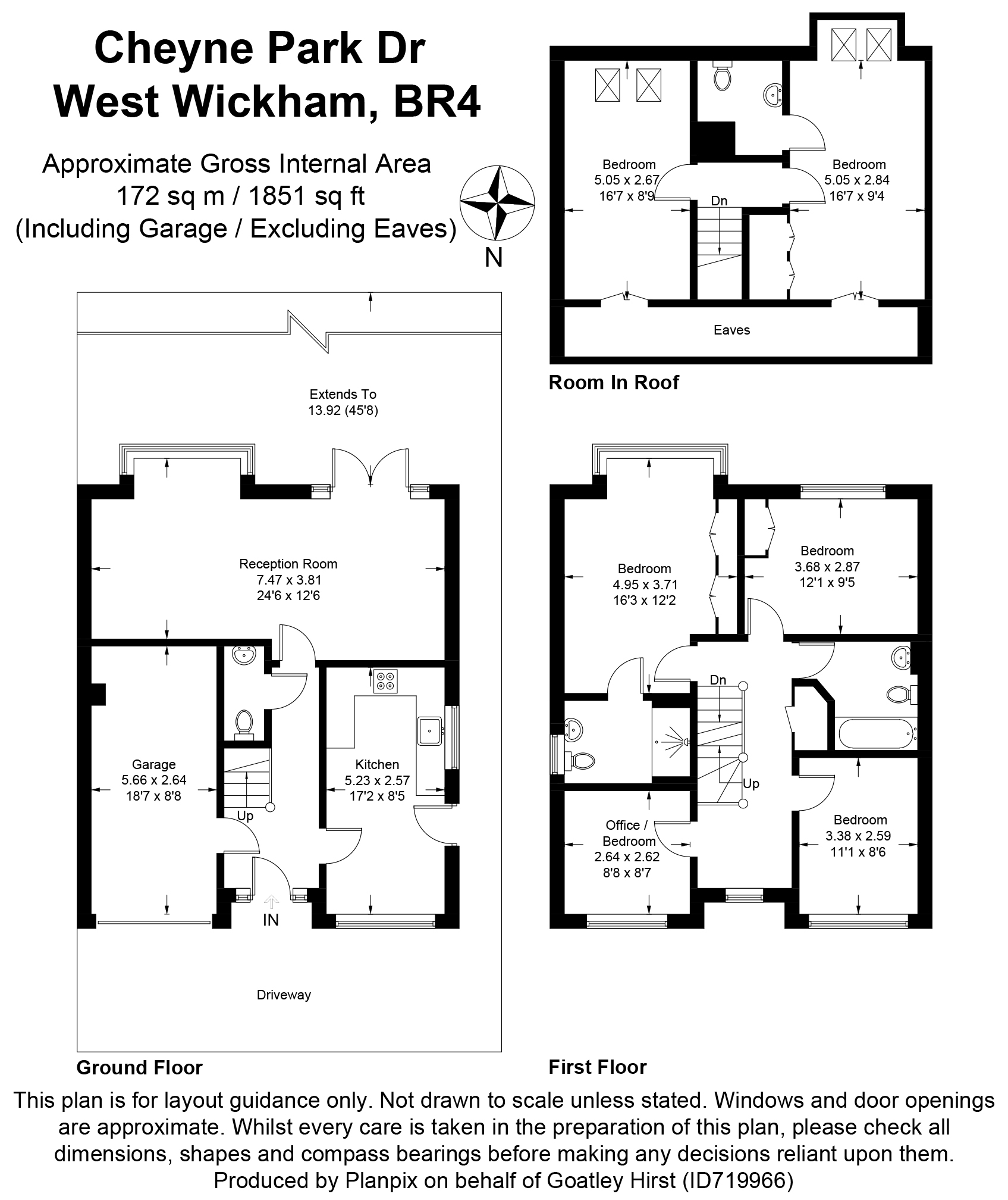 Floorplans For Cheyne Park Drive, West Wickham, Kent