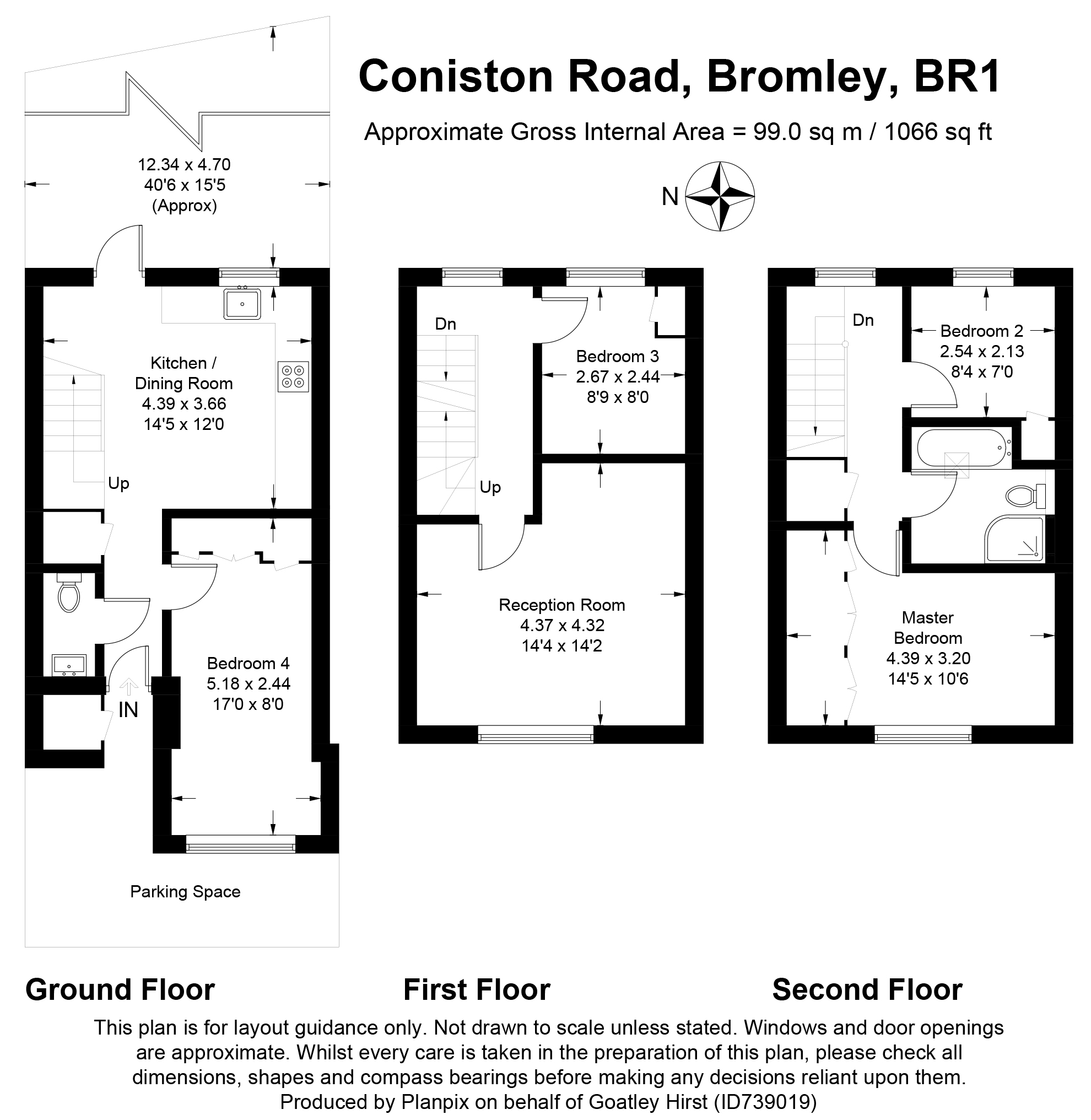 Floorplans For Coniston Road, Bromley, Kent
